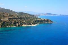Aerial view on Zakynthos island Greece royalty free stock photography