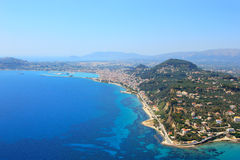 Aerial view on Zakynthos island Greece Stock Photography