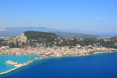Aerial view on Zakynthos island Greece Royalty Free Stock Photo