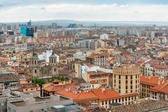 Aerial view of Zaragoza Stock Photo