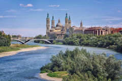 Aerial view of Zaragoza Royalty Free Stock Images