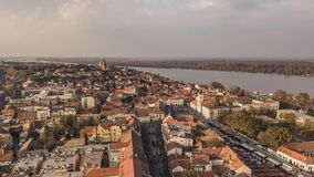 Aerial view of Zemun royalty free stock image