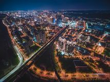 Aerial View of Zhubei City royalty free stock photography