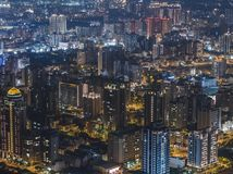 Aerial View of Zhubei City Royalty Free Stock Image