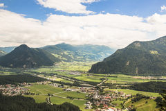 Aerial view Zillertal, Austria stock photo