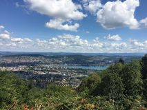 Aerial view of Zurich royalty free stock images