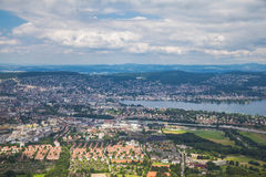 Aerial view of Zurich city Stock Photography