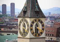 The aerial view of Zurich cityscape Royalty Free Stock Image