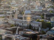 Aerial Views around  London - St pauls Stock Images