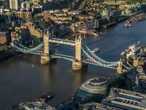 Aerial Views around  London Royalty Free Stock Photo