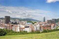 Aerial views of Bilbao city, Bizkaia, Basque country, Spain. Stock Photos