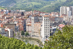 Aerial views of Bilbao city and facades, Bizkaia, Basque country Stock Photos