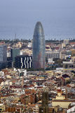 Aerial views of the city of Barcelona Stock Photography