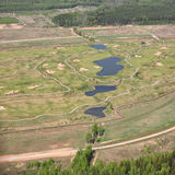 Aerial Views - Golf course Royalty Free Stock Photo