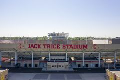 Aerial Views Of Jack Trice Stadium On The Campus Of Iowa State University stock image
