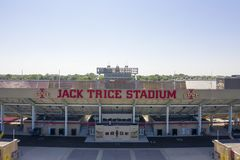 Aerial Views Of Jack Trice Stadium On The Campus Of Iowa State University stock photo