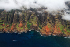 Aerial views Kauai island Royalty Free Stock Image