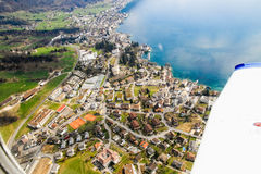 Aerial views of Lucerne region landscape Stock Photos