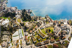 Aerial views of Lucerne region landscape Royalty Free Stock Photography