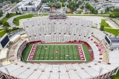 Aerial Views Of Memorial Stadium On The Campus Of Indiana University royalty free stock photography