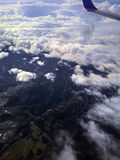 Aerial views of the mountains. That surrounding the area of a kagoshima Japan. The scenery has very beautiful mountainous area with stunning presence of fog Stock Photos