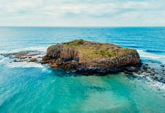 Aerial views over Stack Island Australia stock photos