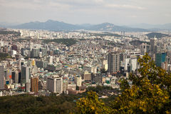 Aerial views of Seoul, South Korea Stock Images