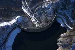 Aerial viewu, Landscape with dam lake Vidraru. In Romania stock images