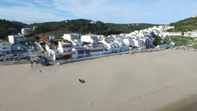 Aerial from the village Salema in Portugal stock video footage