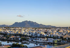 Aerial of Vitoria in sunset Royalty Free Stock Images