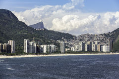 Aerial viw of Sao Conrado Royalty Free Stock Image