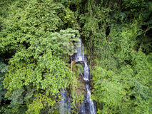 Aerial waterfall in the West African rainforest, Congo. Royalty Free Stock Photography