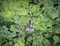 Aerial waterfall in the West African rainforest Stock Images