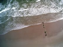 Aerial Waves in Rhode Island stock photos