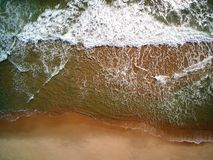 Aerial Waves in Rhode Island royalty free stock images