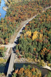 Aerial west central Wisconsin autumn Royalty Free Stock Images