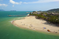 Aerial west island. Of sanya hainan China Stock Image