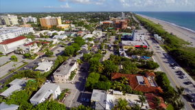 Aerial West Palm Beach flyover stock video footage