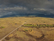 Aerial of Western Montana Bird Refuge Royalty Free Stock Photos