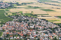 Aerial of Wicker, an old wine town Stock Image