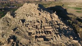Aerial wide shot of Shar-e Gholghola The City of Screams, City of Sighs. Shar-e Gholghola The City of Screams, City of Sighs, Bamyan, Afghanistan.  Aerial stock video