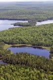 Aerial wild lake Royalty Free Stock Image