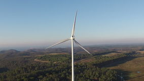 Aerial from a windmill in Portugal stock video footage