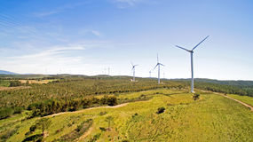 Aerial from windmills in the countryside Stock Image