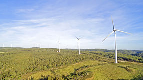 Aerial from windmills in the countryside Royalty Free Stock Photography