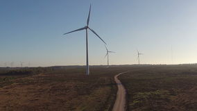 Aerial from windmills in Portugal stock video