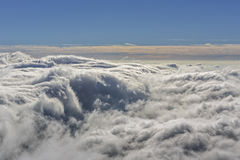 Aerial windy cloudscape Royalty Free Stock Images