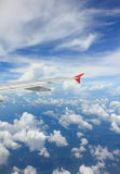 Aerial wing transportation flying in atmosphere level Royalty Free Stock Photography