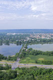 Aerial of Winona and Lake Stock Photography