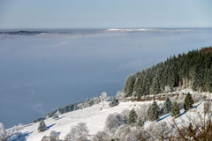Aerial winter mountains panoramic view. Picturesque and gorgeous Royalty Free Stock Photography